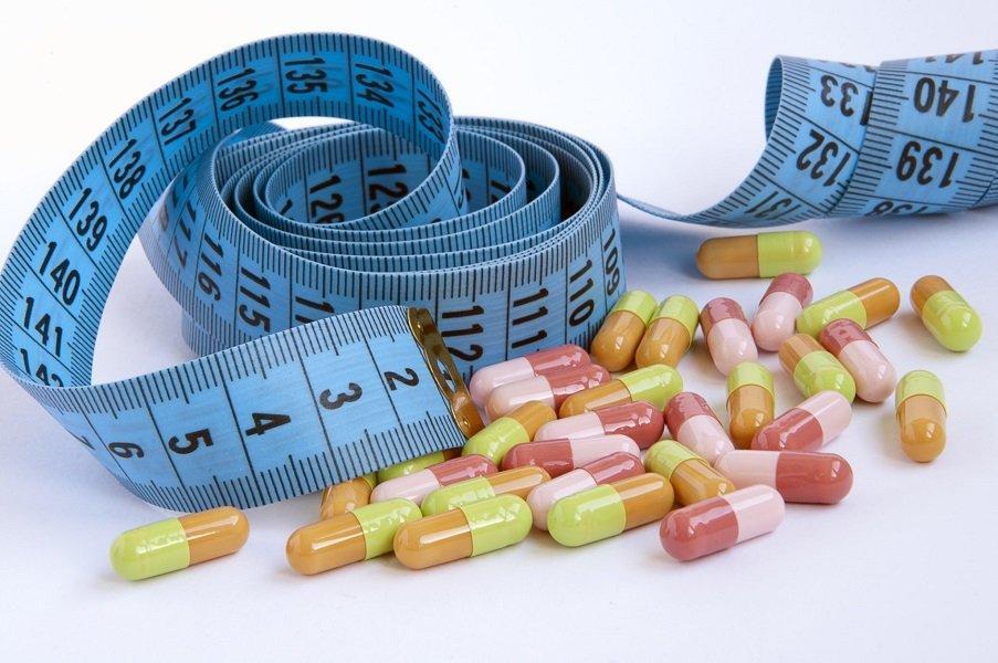 Сантиметр и горсть мочегонных таблеток для похудения