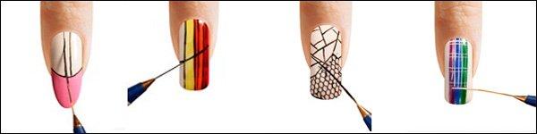 Как рисовать на ногтях длинною кистью