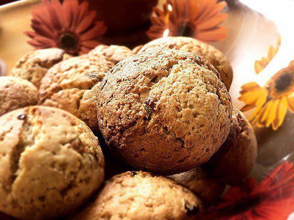 Фруктовое печенье из овсяных отрубей