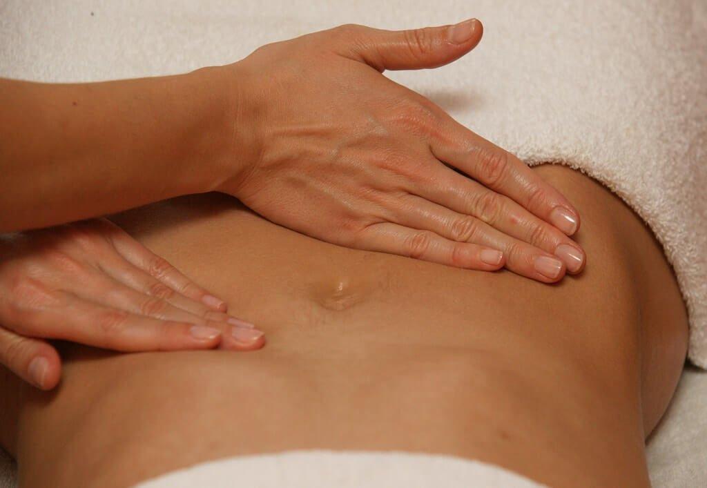 Как сделать самой массаж на животе 834